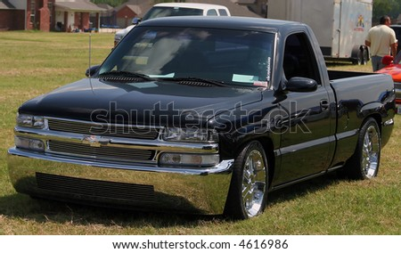 Black Chevrolet truck - stock photo