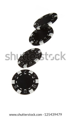 black chips - stock photo