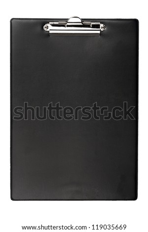 Black clipboard isolated on white background - stock photo