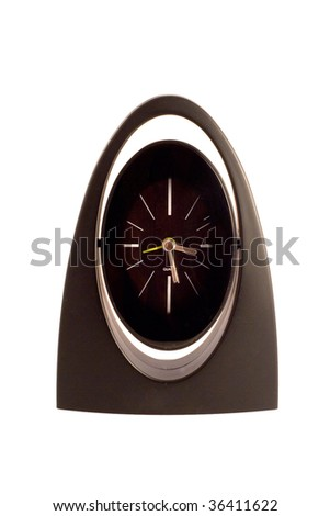 Black clock - stock photo