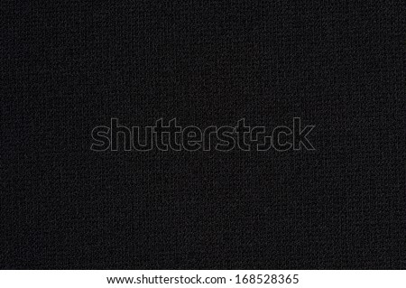 Black cloth with no folds texture closeup - stock photo