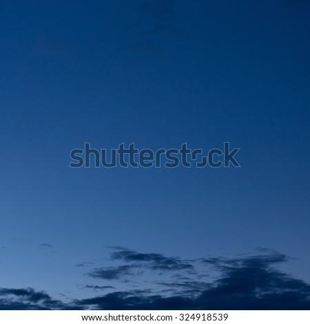 black cloud in dark night sky used for halloween background - stock photo
