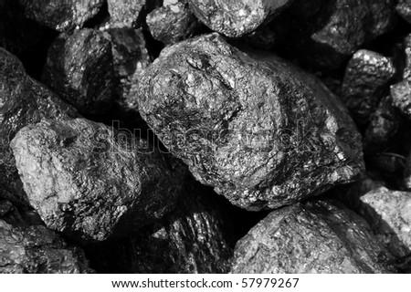 Black coals - stock photo