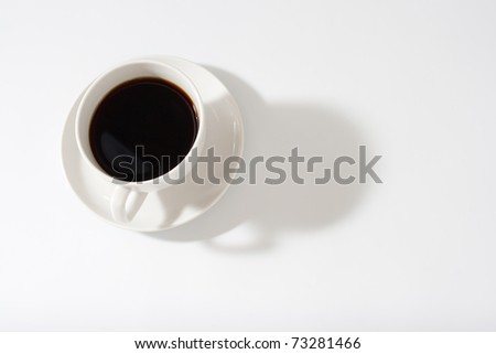 black coffee cup on white