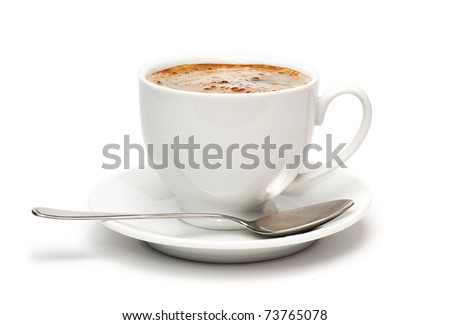 Black Coffee. Isolated on white - stock photo