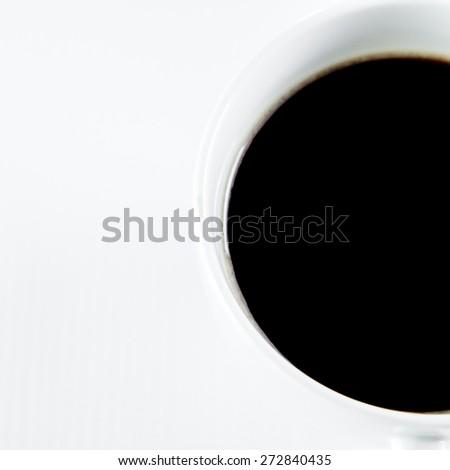 black coffee on white background - stock photo