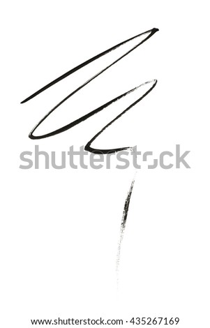 Black color eyeliner strokes on background - stock photo