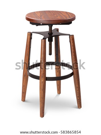 Black color high spinning wooden bar stool chair wood metal chair modern  sc 1 st  Shutterstock & Black Color High Spinning Wooden Bar Stock Photo 583865854 ... islam-shia.org