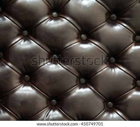 Black color of sofa texture background.
