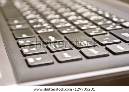 Black computer keyboard - stock photo