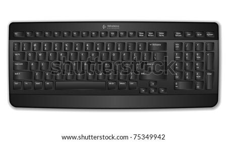 Black computer keyboard - stock photo