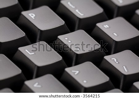 black computer keyboard close up
