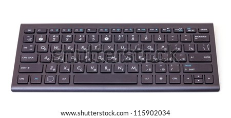 Black computer keyboard isolated on a white background