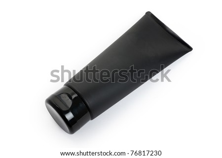 Black Cosmetics Tube with white background