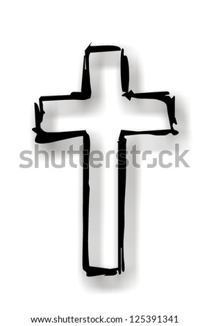 black cross with grey shadow