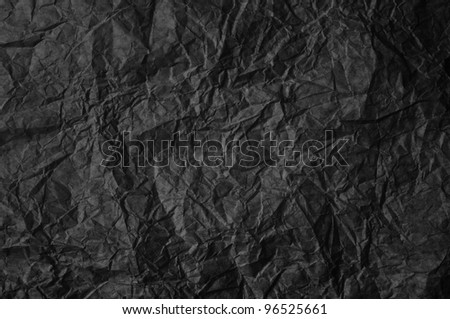 Black crumpled paper - stock photo