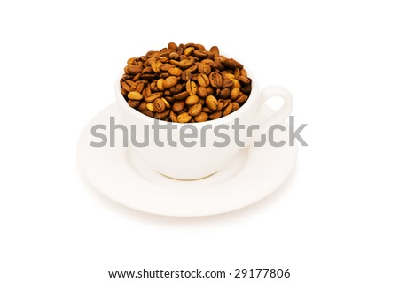 Black cup  isolated on the white background