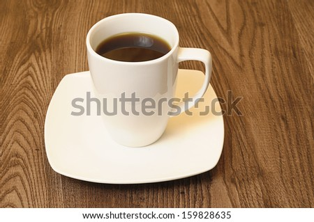 Black cup of coffee - stock photo