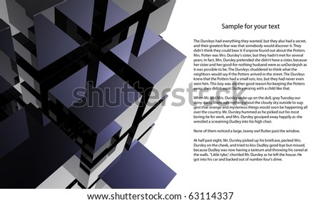Black 3D cube abstraction - stock photo