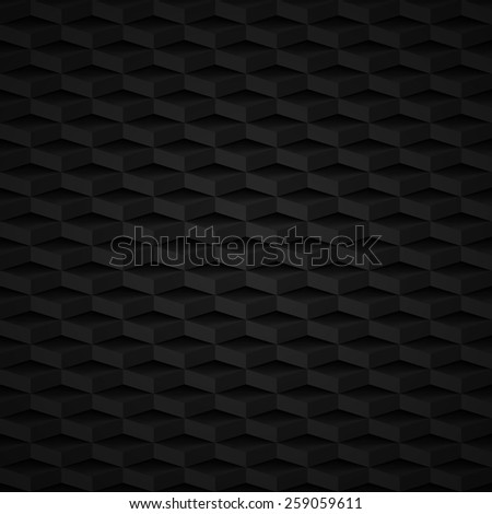 black 3d seamless pattern with blocks