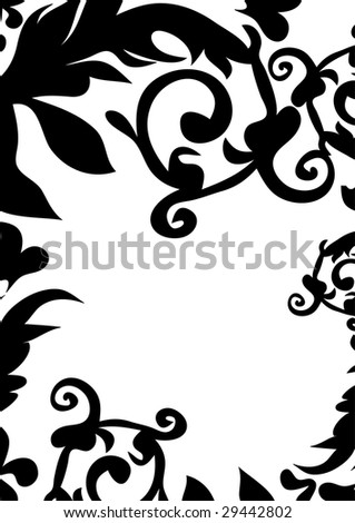 black design ornament with space for text illustration