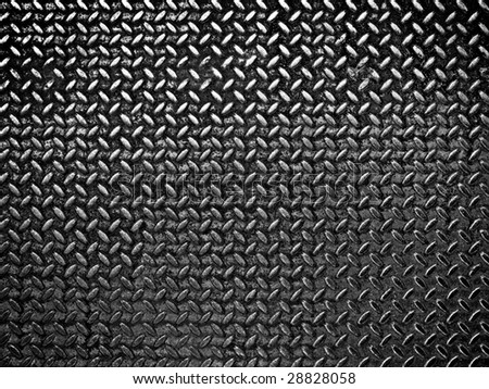 black diamond metal background - stock photo