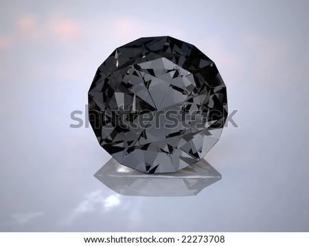 black diamond on a white background - stock photo