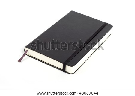 Black Diary isolated on a white background
