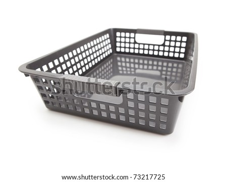 Black document tray isolated on white.