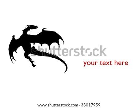 black dragon - stock photo