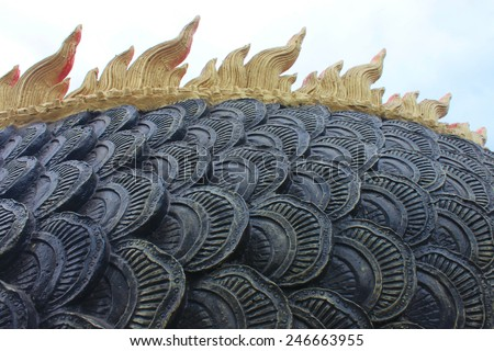 Black Dragon Scales Decoration important - stock photo