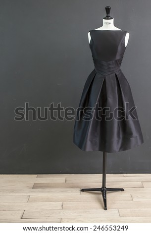 Black dress - stock photo