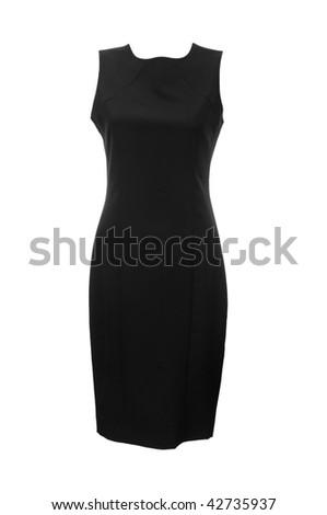 Black dress isolated on the white - stock photo