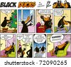 Black Ducks Comic Strip episode 26 - stock