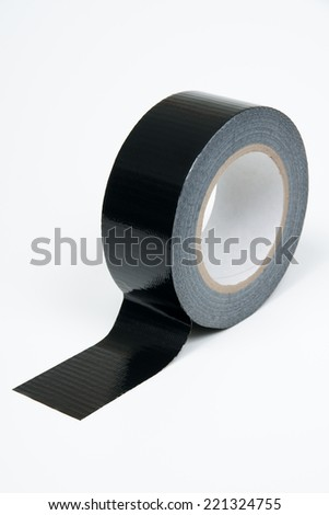 Black duct tape used in industry and around the home studio isolated