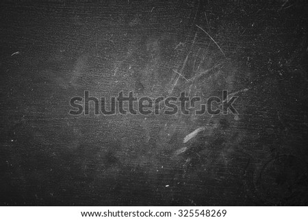 Black Dusty and Scratchy Background, Dark Dirty Surface Texture - stock photo