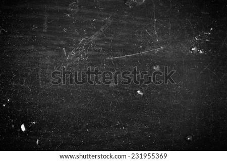 Black Dusty Scratchy Texture - stock photo