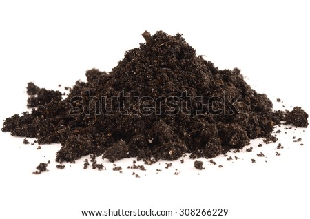 black earth on a white background