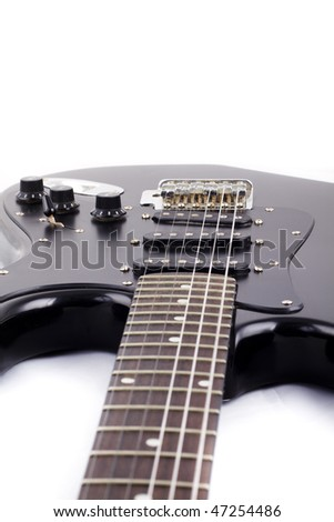Black electric guitar, rock