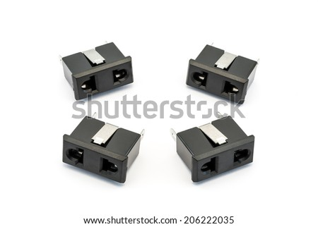 Black Electrical AC Outlet Spare Part - stock photo