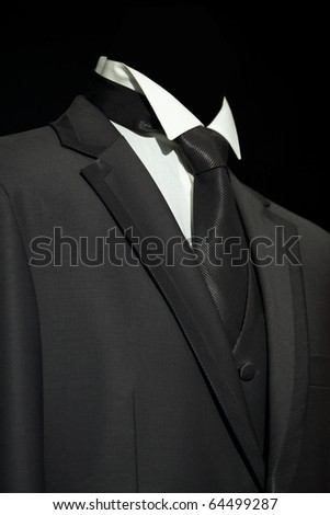 Black elegant stylish jacket, fashion and business background - stock photo