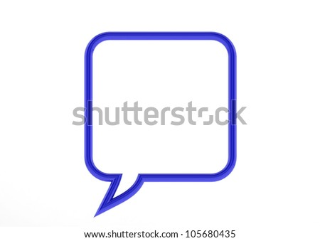 Black Empty Speech Bubble - stock photo