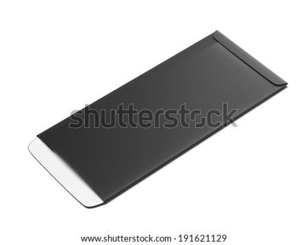 Black envelope - stock photo