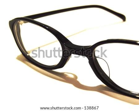 black eye glasses - stock photo
