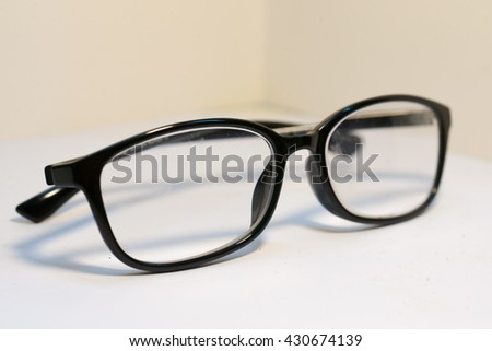 Black Eye Glasses Isolated on White