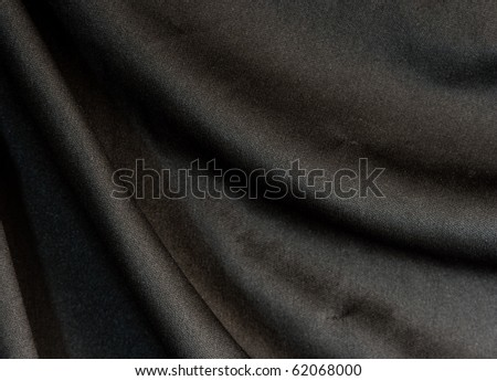 black fabric - stock photo