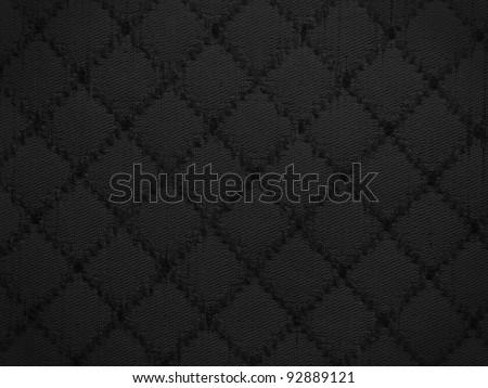 black fabric background,pattern. - stock photo