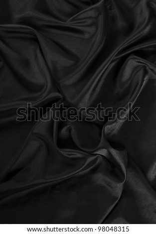 black fabric texture - stock photo