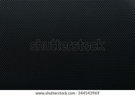 Black fabric texture background. - stock photo