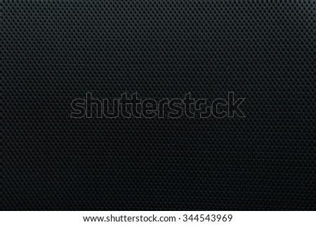 Black fabric texture. Black fabric background. Dark fabric texture. Dark texture. Woven texture. Textile texture. Canvas texture. Dark material. Black material. Texture background. Dark burlap texture - stock photo